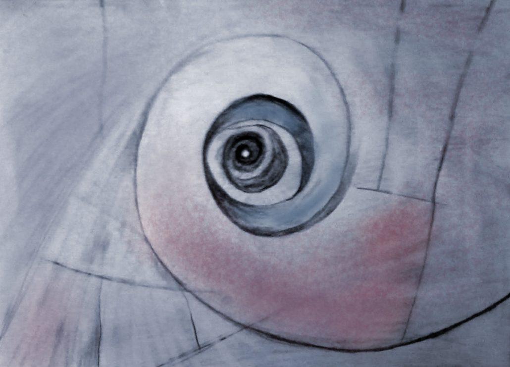 Pencil sketch of spiral shape